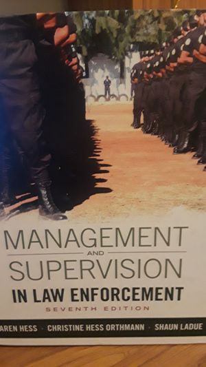 Management and supervision in law enforcement. College textbook for Sale in Lakeland, FL