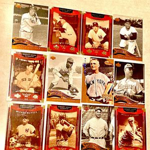 12CD UPPERDECK GOLD SWEET SPOT CLASSIC LEGENDS BASEBALL GREATS GAME GEHRIG MANTLE COBB!! SPORTS SPECIAL ! NMT! ASK $150 FIRM SALE for Sale in Houston, TX