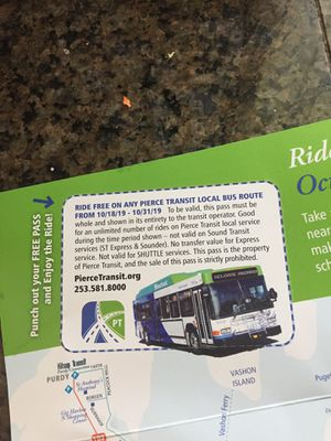 ***pending***Free Pierce county bus pass for Sale in Tacoma, WA