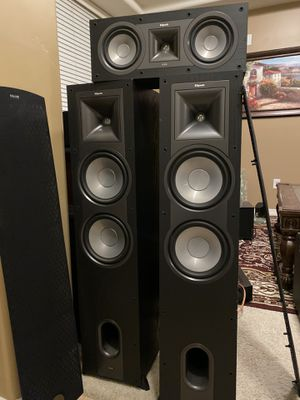 Klipsch Icon KF 28 floor standing speakers with center channel for Sale in Chandler, AZ