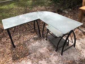 Frosted Glass Corner Desk for Sale in Spring Hill, FL