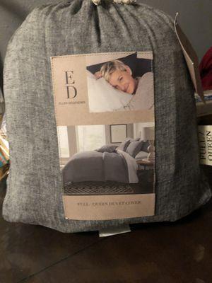 ED Hellen DeGeneres Full Queen Duvet Cover Charcoal for Sale in Norwalk, CA