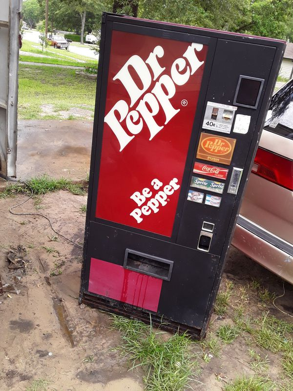 Dr. Pepper vending machine.