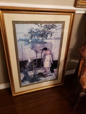 XL painting in gold frame for Sale in San Angelo, TX