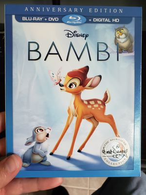 Disney's Bambi on Bluray and DVD for Sale in Baytown, TX