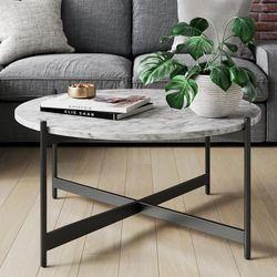 WayFair Belynda Cross Legs Coffee Table White for Sale in Boston,  MA