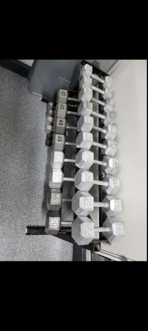 Dumbbell set 5 lbs to 55 lbs with rack for Sale in North Las Vegas, NV