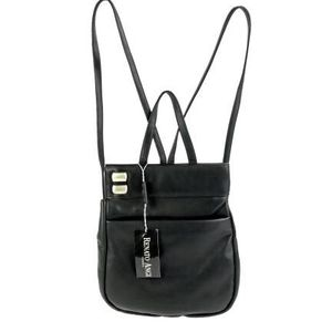 NWT Black RENATO ANGI Buttery Leather Shoulder Backpack Purse Handbag for Sale in Bellevue, WA