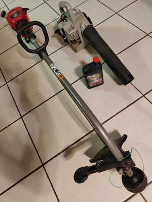 Echo PB-1000 Handheld Leaf Blower & Weedeater Troy-Bilt 31cc 2-Cycle String Trimmer & Bottle of 2-cycle oil for Sale in Snellville, GA