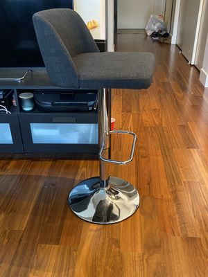 Bar Stool- Adjustable (2), Silver and Grey, Almost New for Sale in Seattle, WA
