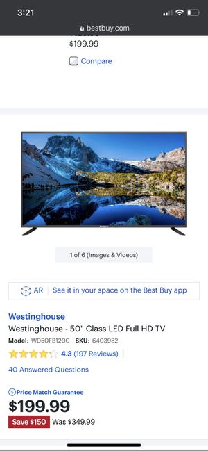 """Westinghouse 50"""" for Sale in Conway, KS"""