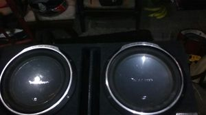 2 old school Rockford fosgate p312s in an atrend b box 1inch mdf ported box for Sale in Tacoma, WA