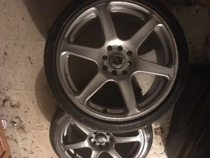 17 inch rims and tires for logs 2 only for Sale in New York, NY