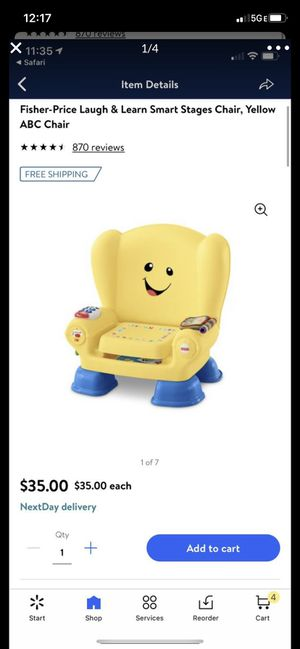 Fisher price laugh and learn smart stages chair toy for Sale in Glendale, AZ