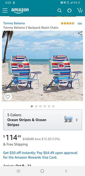 Tommy bahama beach chairs!! for Sale in Los Angeles, CA