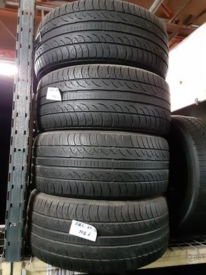 (4) USED TIRES P265/40R20 PIRELLI P-ZERO NERO ALL SEASON 265/40R20 ULTRA HIGH PERFORMANCE TIRES 265 40 20 for Sale in Fort Lauderdale, FL