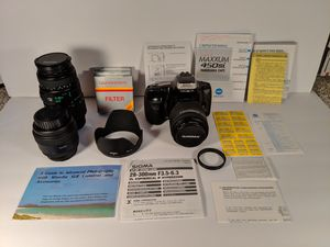 Minolta Maxxum 330 si, camera bag, and more for Sale in Canonsburg, PA