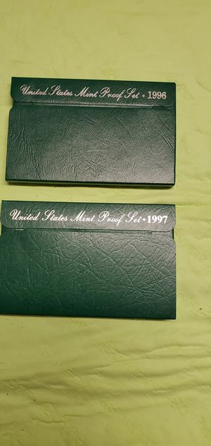 1996 and 1997 mint proof sets. for Sale in Riverton, WY
