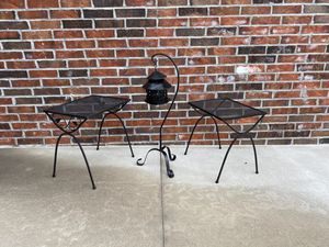 Iron Patio Tables & Hanging Candle Lamp for Sale in Broken Arrow, OK