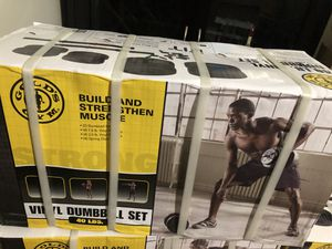 Gold's Gym Vinyl Dumbbell Set 40lbs (Brand New) for Sale in Los Angeles, CA