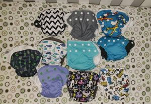 10 aio newborn cloth diapers for Sale in Bristow, VA