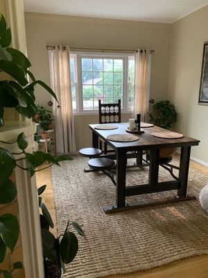 Cost plus World Market Table with attached stool seating for Sale in San Francisco, CA