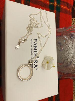Pandora Sparkling signature locket necklace for Sale in Los Angeles, CA