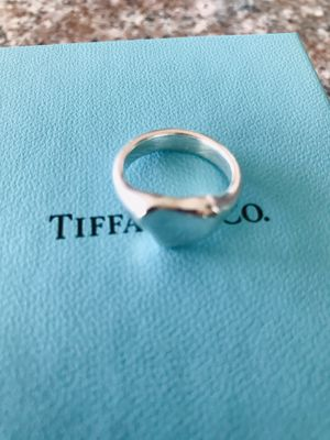 TIffany&Co love ❤️ heart ring sterling silver excellent condition authentic retail 300 please ask questions 51/2 for Sale in Redlands, CA