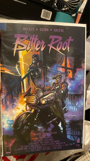 Bitter Root #8 purple rain homage variant cover for Sale in Upland, CA