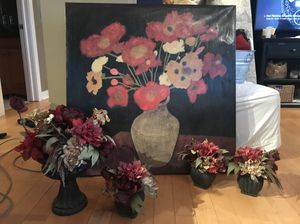 Large canvas oil painting & decorative accessories for Sale in Chicago, IL