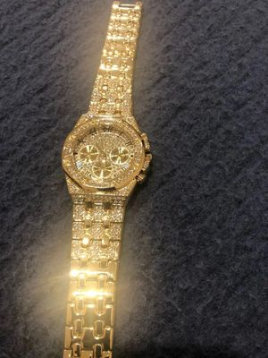 Iced Out Gold Watch for Sale in Oakton, VA