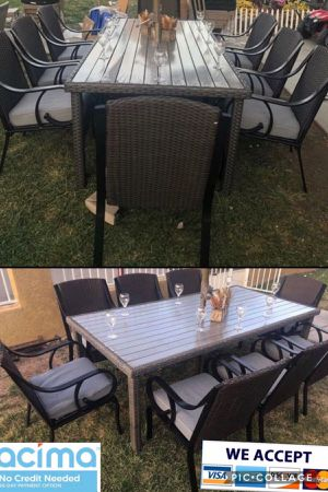 Patio dining table set with 8 chairs for Sale in Riverside, CA