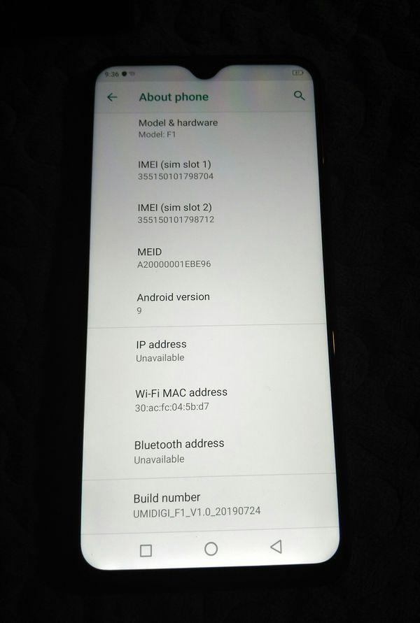 UMIDIGI F1 Play Android 9.0 Smartphone 6.3'' 6GB 64GB ROM 5150mAh Unlocked 2SIM