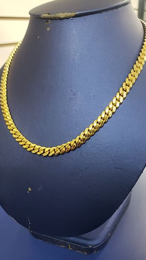 10K Gold Cuban Link Chain 87 grams for Sale in Tampa, FL