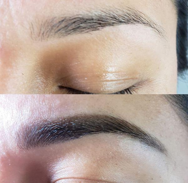 Henna eyebrow....pintado Las cejas con henna