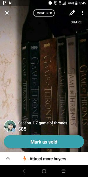 Season 1-7 game of thrones for Sale in Silsbee, TX