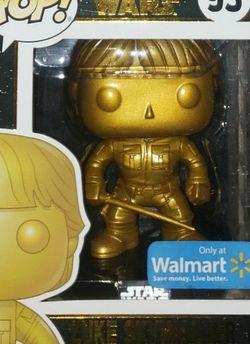 Funko Pop! Luke Skywalker #93 Star Wars GOLD Wal-Mart Exclusive Figure for Sale in Austin,  TX