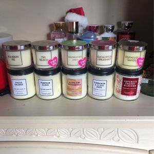 BATH AND BODY WORKS SINGLE WICK CANDLES for Sale in Pomona, CA