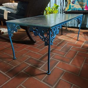 Wrought Iron And Tempered Glass Vintage Coffee Table for Sale in Clearwater, FL