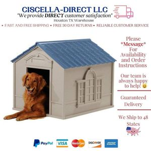 XXL Dog House For X-Large 100 lbs Outdoor Pet Cabin House Big Shelter (Not Insulated) for Sale in Houston, TX