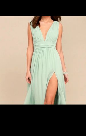 Lulu's Heavenly Hue Mint Maxi Prom/Bridesmaid dress for Sale in Stockton, CA