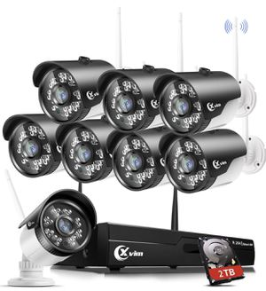 XVIM H.264 2MP Wireless Signal Security Cameras System with 2TB HDD 8CH 1080P HD DVR 8pcs 1080P Wireless Outdoor Indoor Waterproof Surveillance Camer for Sale in Rancho Cucamonga, CA