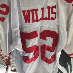 Patrick Willis San Francisco 49ers Reebok on Field's authentic NFL equipment vintage collectible football jersey for Sale in Bakersfield,  CA