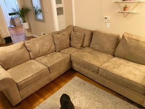 """Caramel sectional """"L"""" couch. Great condition :) for Sale in San Carlos, CA"""