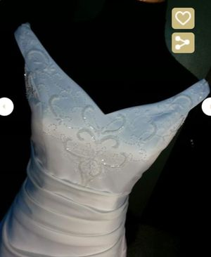 Wedding Dress, Bolero, Petticoat, Sash, and Custom Veil for Sale in Tempe, AZ