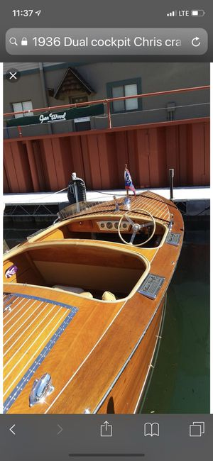 1936 Dual cockpit Chris craft. 18 ft Runabout. for Sale in Arroyo Grande, CA