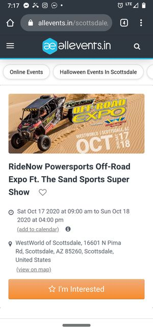 Ride now expo ticket 1 ticket for Sale in Mesa, AZ
