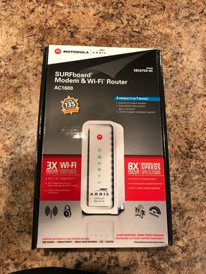 ARRIS SURFboard AC1600 DOCSIS 3.0 Cable Modem Router ( for Sale in Carnegie, PA