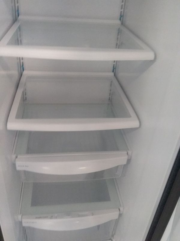 Ge side by side stainless steel refrigerator used good condition 90days warranty