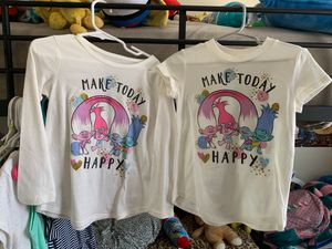 Trolls size 4T shirts for Sale in Lake Forest, CA